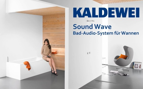 kaldewei sound wave im shk tv iconic bathroom solutions. Black Bedroom Furniture Sets. Home Design Ideas
